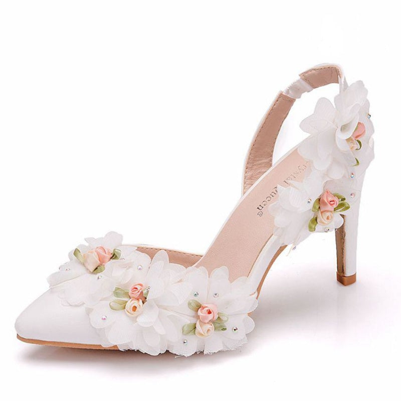 Elegant Lace Flower Wedding Sandals | Bridelily - wedding sandals