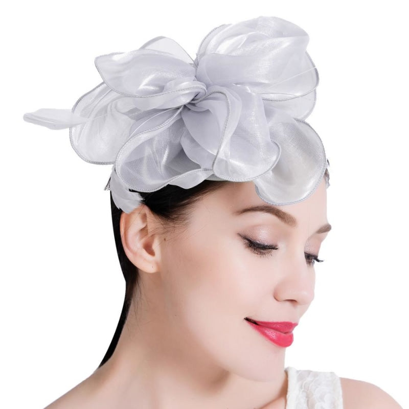Elegant Pattern Feather Floral Clips Fascinators | Bridelily - fascinators