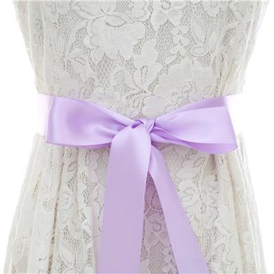 Elegant Pearls Women Belts Wedding Sashes | Bridelily - lavender / One Size - wedding sashes