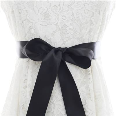 Elegant Pearls Women Belts Wedding Sashes | Bridelily - black / One Size - wedding sashes