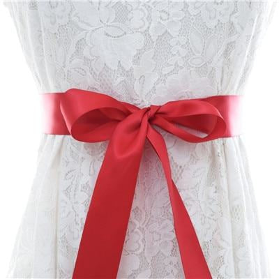 Elegant Pearls Women Belts Wedding Sashes | Bridelily - wine red / One Size - wedding sashes