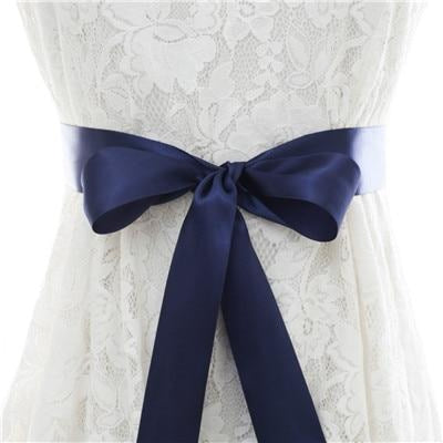 Elegant Pearls Women Belts Wedding Sashes | Bridelily - dark blue / One Size - wedding sashes