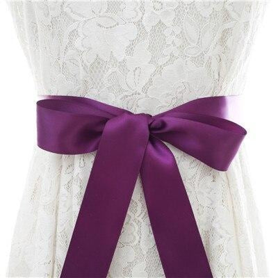 Elegant Pearls Women Belts Wedding Sashes | Bridelily - purple / One Size - wedding sashes