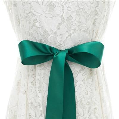 Elegant Pearls Women Belts Wedding Sashes | Bridelily - dark green / One Size - wedding sashes
