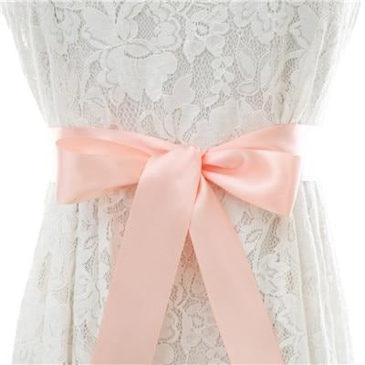 Elegant Pearls Women Belts Wedding Sashes | Bridelily - Blush / One Size - wedding sashes