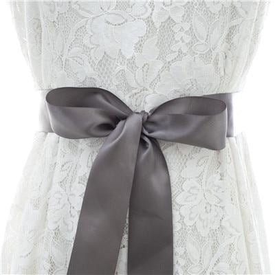 Elegant Pearls Women Belts Wedding Sashes | Bridelily - dark gray / One Size - wedding sashes