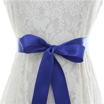 Elegant Pearls Women Belts Wedding Sashes | Bridelily - royal blue / One Size - wedding sashes