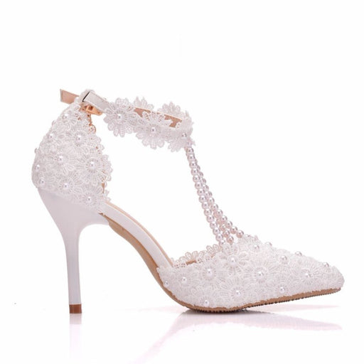 Elegant Pointed Toe High Heels Wedding Pumps | Bridelily - wedding sandals