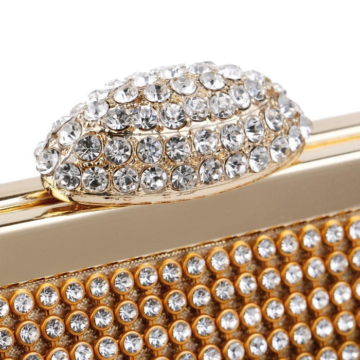 Elegant Rhinestones With Chain Wedding Handbags | Bridelily - wedding handbags