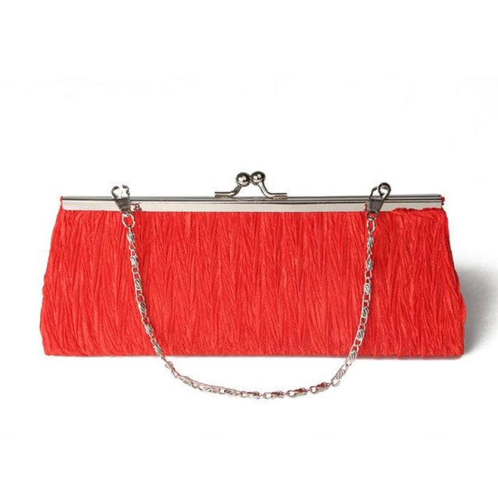 Elegant Tote Clutches Chain Wedding Handbags | Bridelily - Red - wedding handbags