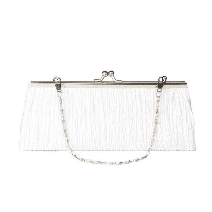Elegant Tote Clutches Chain Wedding Handbags | Bridelily - White - wedding handbags