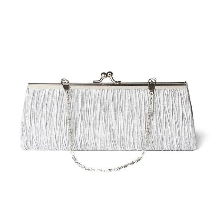Elegant Tote Clutches Chain Wedding Handbags | Bridelily - Silver - wedding handbags