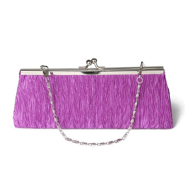 Elegant Tote Clutches Chain Wedding Handbags | Bridelily - Purple - wedding handbags
