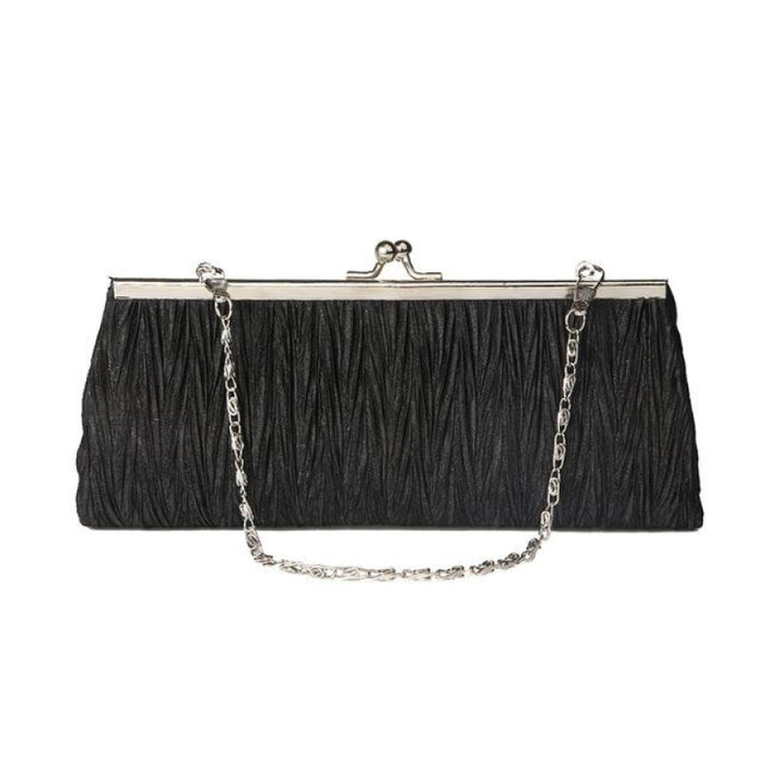 Elegant Tote Clutches Chain Wedding Handbags | Bridelily - Black - wedding handbags