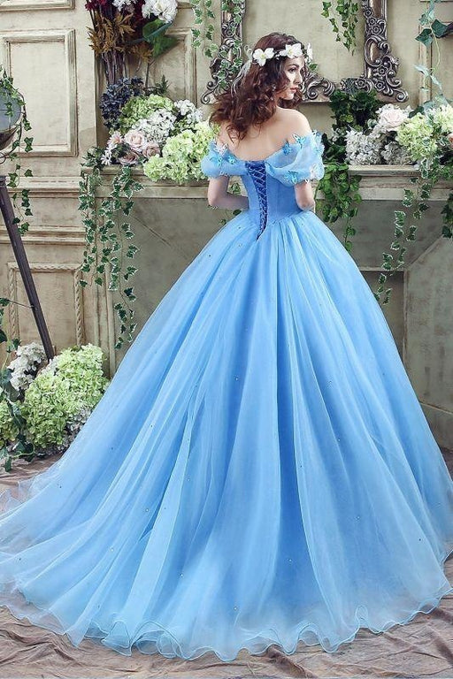 Elegant Tulle Princess Ball Gown Prom Dresses - Prom Dress