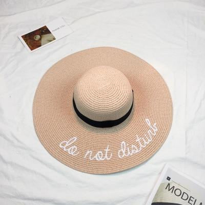 Embroidery Letter Sale With Wide Brim Straw Hats | Bridelily - 4 - straw hats