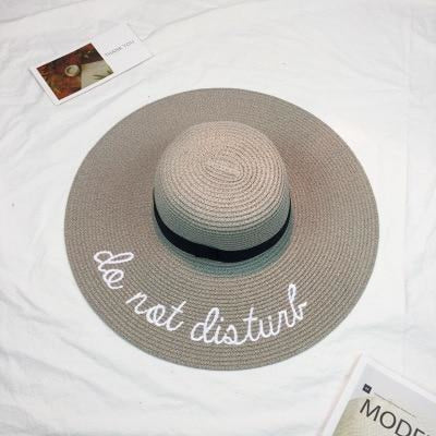 Embroidery Letter Sale With Wide Brim Straw Hats | Bridelily - 7 - straw hats