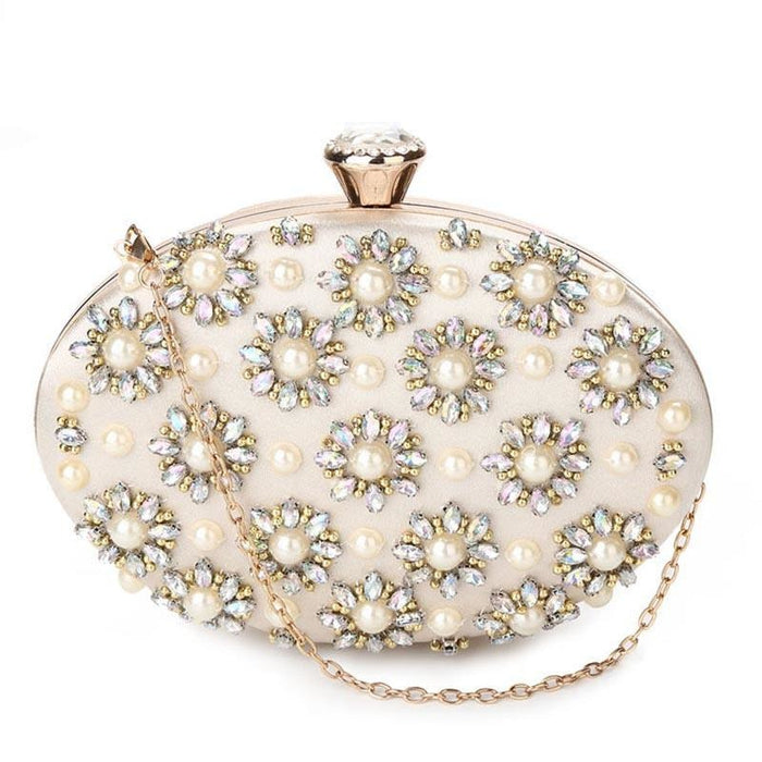 Exquisite Beads Egg Shape Clutch Wedding Handbags | Bridelily - wedding handbags