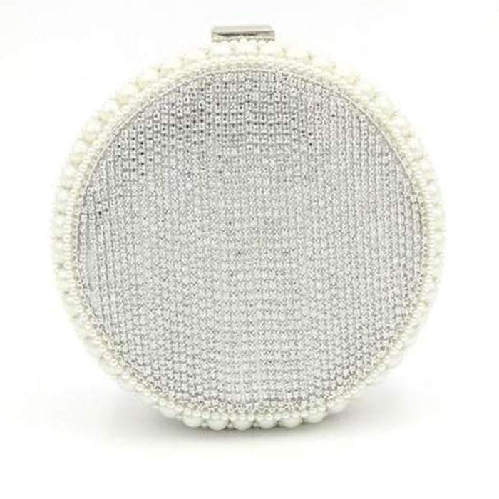 Exquisite Circular Pearl Tassel Wedding Handbags | Bridelily - wedding handbags