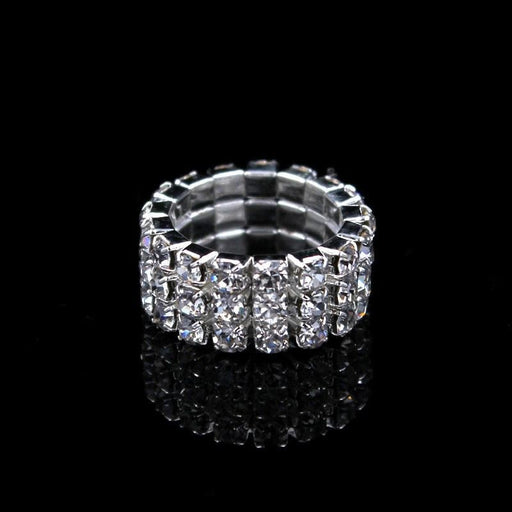 Fashion 1-4 rows Rhinestone Wedding Rings | Bridelily - rings