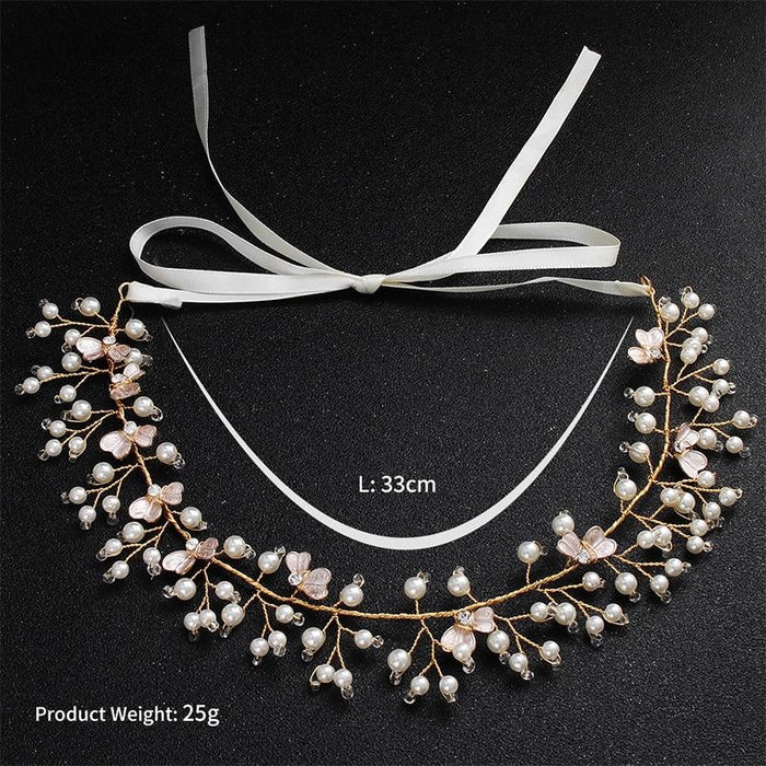 Fashion Blossom Pearls Handmade Headbands | Bridelily - headbands
