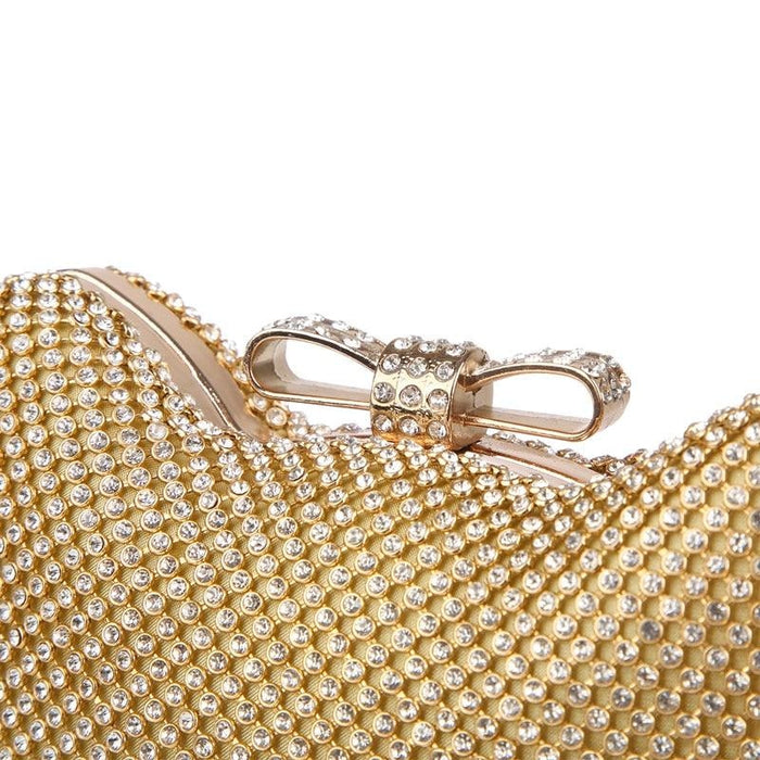 Fashion Cat Bow Crystal Glitter Wedding Handbags | Bridelily - wedding handbags