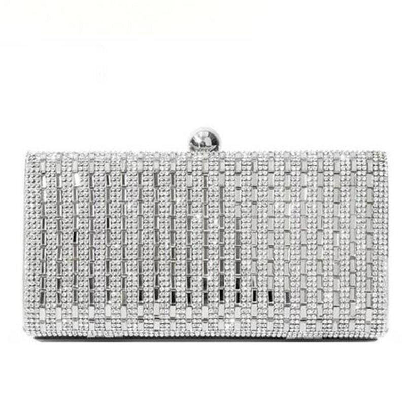 Fashion Chain Rhinestone Clutches Wedding Handbags | Bridelily - wedding handbags