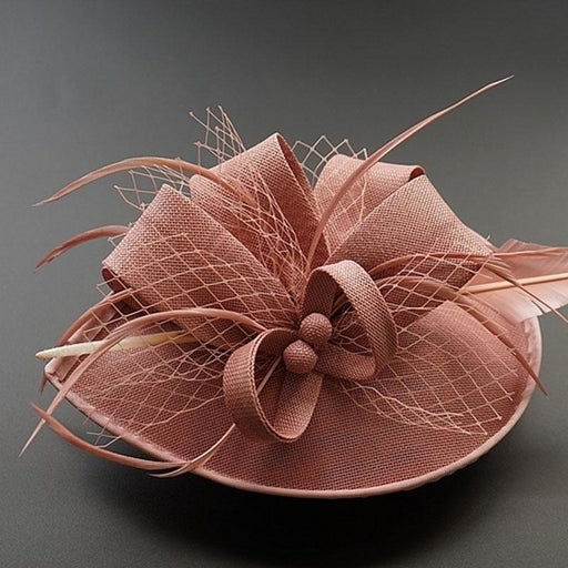 Fashion Church Feather Flower Clips Fascinators | Bridelily - fascinators