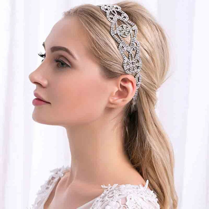Fashion Crystal Handmade Womens Headbands | Bridelily - headbands