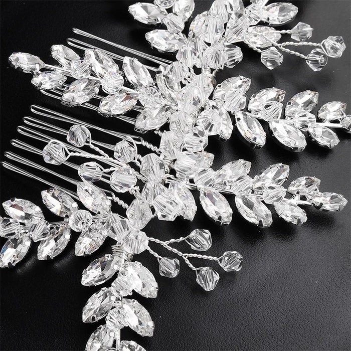 Fashion Crystal Leaves Jewerly Combs & Barrettes | Bridelily - combs & barrettes