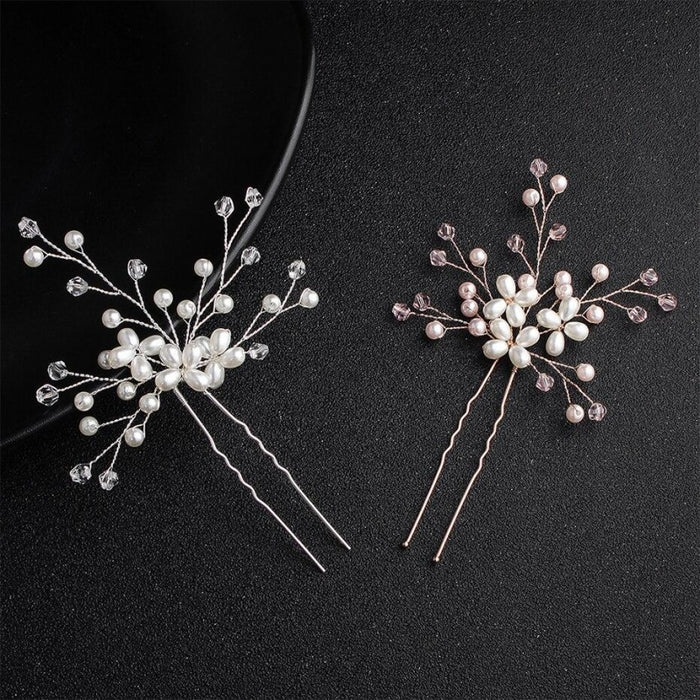 Fashion Crystal Peals Handmade Hairpins | Bridelily - hairpins