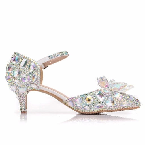 Fashion Crystal Pointed Toe Wedding Sandals | Bridelily - wedding sandals