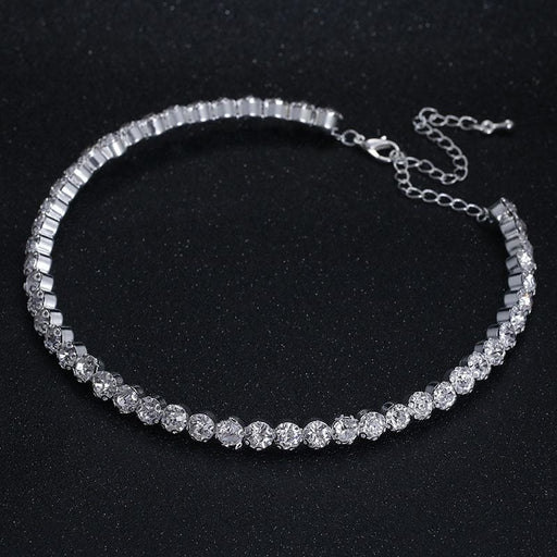 Fashion Crystal Silver Chain Bridal Necklaces | Bridelily - necklaces