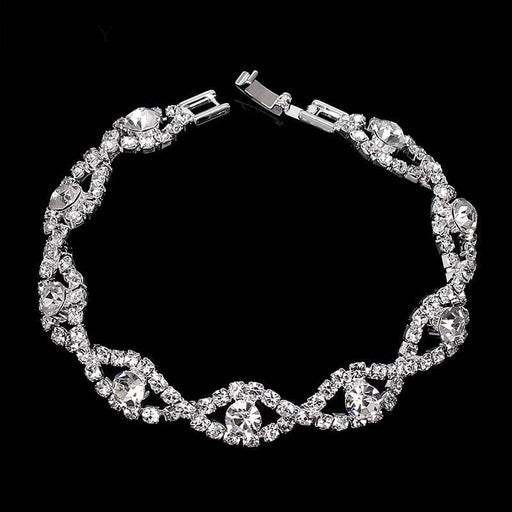 Fashion Crystal Silver Handmade Wedding Bracelets | Bridelily - bracelets