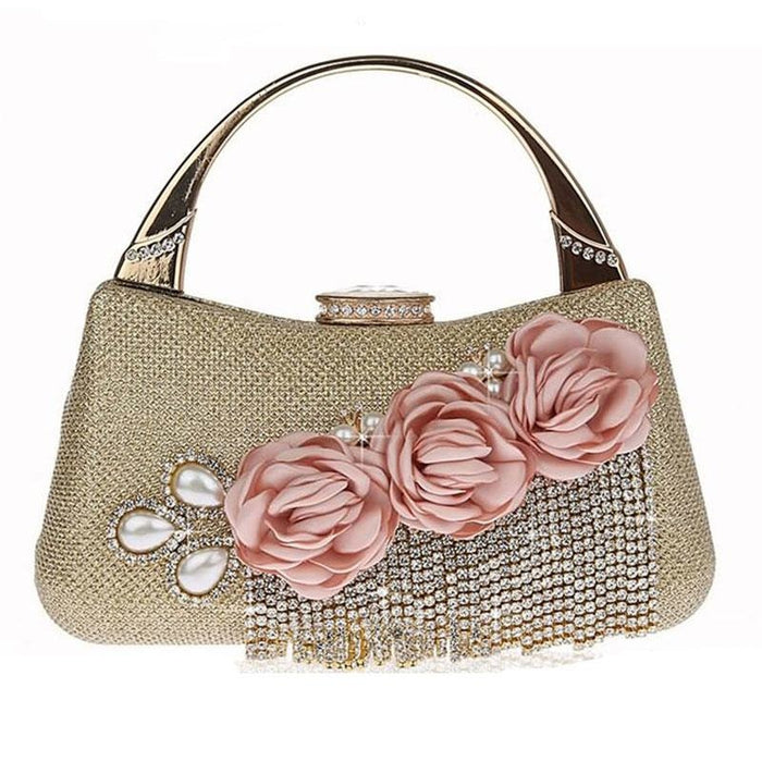 Fashion Flower Tassel Bead Chain Wedding Handbags | Bridelily - wedding handbags