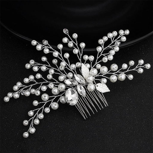 Fashion Handmade Crystal Pearls Combs & Barrettes | Bridelily - combs & barrettes