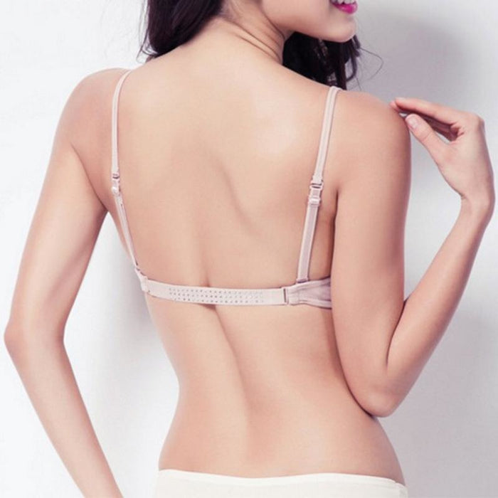 Fashion Invisible Plunge Deep U backless Bras | Bridelily - bras