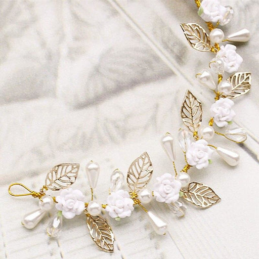 Fashion Jewelry Rhinestone Floral Headpieces | Bridelily - floral headpieces