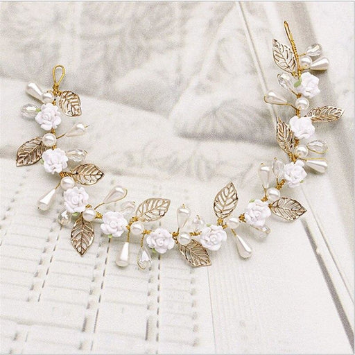 Fashion Jewelry Rhinestone Floral Headpieces | Bridelily - Same as picture colour - floral headpieces