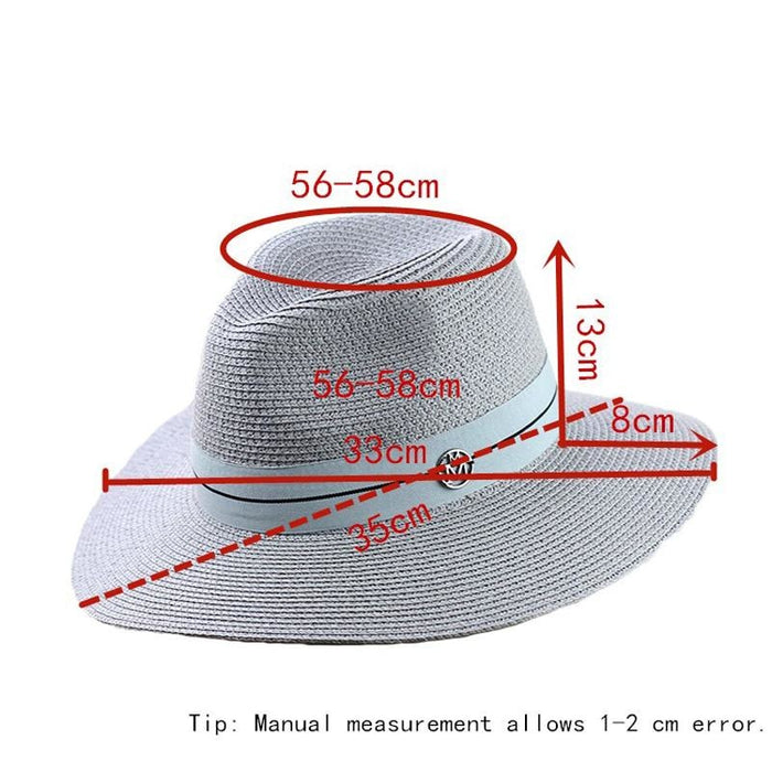 Fashion Letter Sun Straw Casual Beach/Sun Hats | Bridelily - beach/sun hats