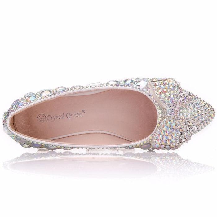 Fashion Low Heel Pointed Toe Wedding Flats | Bridelily - wedding flats