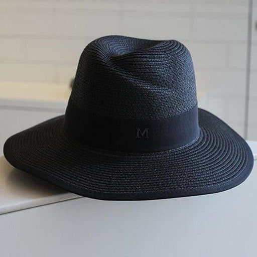 Fashion M Letter Straw Large Brim Beach/Sun Hats | Bridelily - beach/sun hats