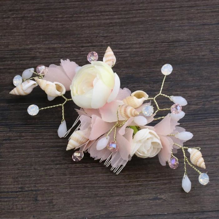 Fashion Pink Flower Womens Floral Headpieces | Bridelily - floral headpieces