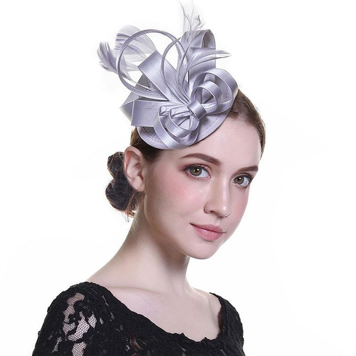 Fashion Retro Veil Feather Flower Clip Fascinators | Bridelily - fascinators