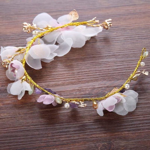 Fashion Silk Flower Pearl Floral Headpieces | Bridelily - floral headpieces