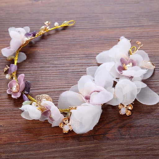 Fashion Silk Flower Pearl Floral Headpieces | Bridelily - Same as picture colour - floral headpieces