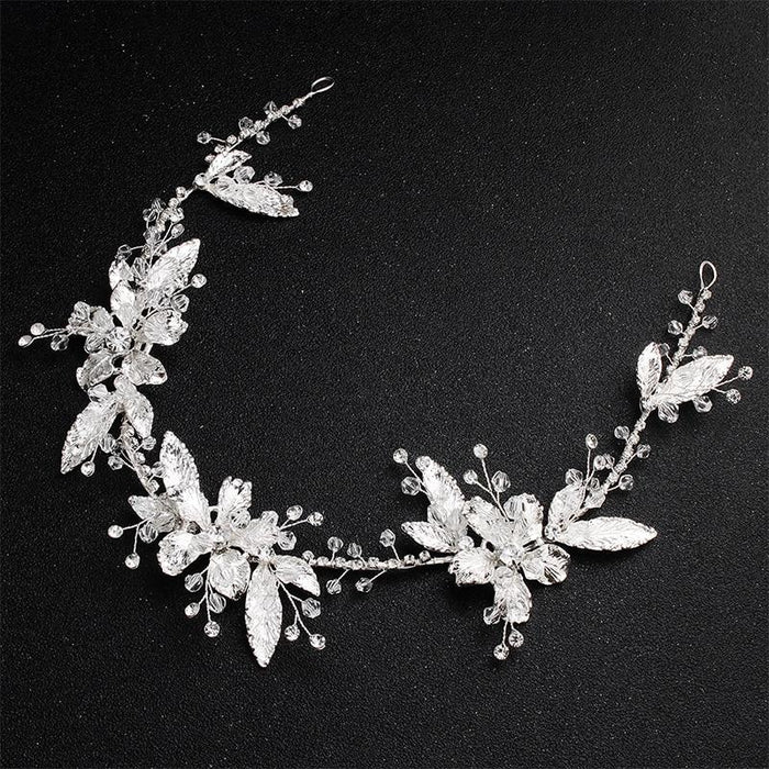 Fashion Silver Color Flower Womens Headbands | Bridelily - headbands