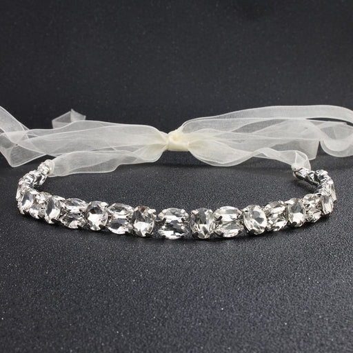 Fashion Simple Crystal Handmade Headbands | Bridelily - headbands