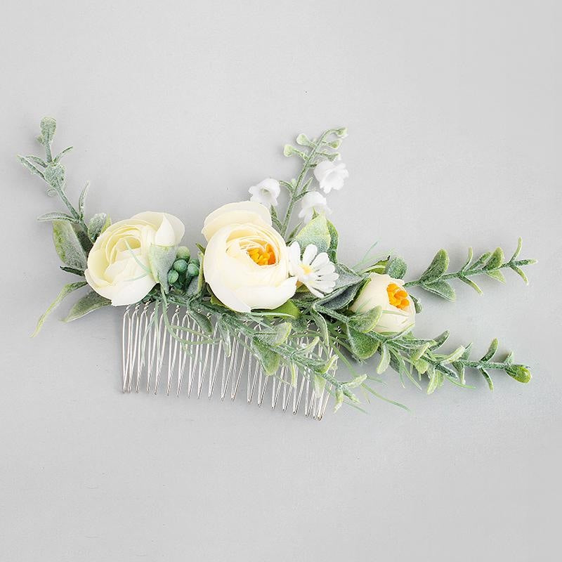 Fashion Simulation Flower Womens Combs & Barrettes | Bridelily - combs & barrettes