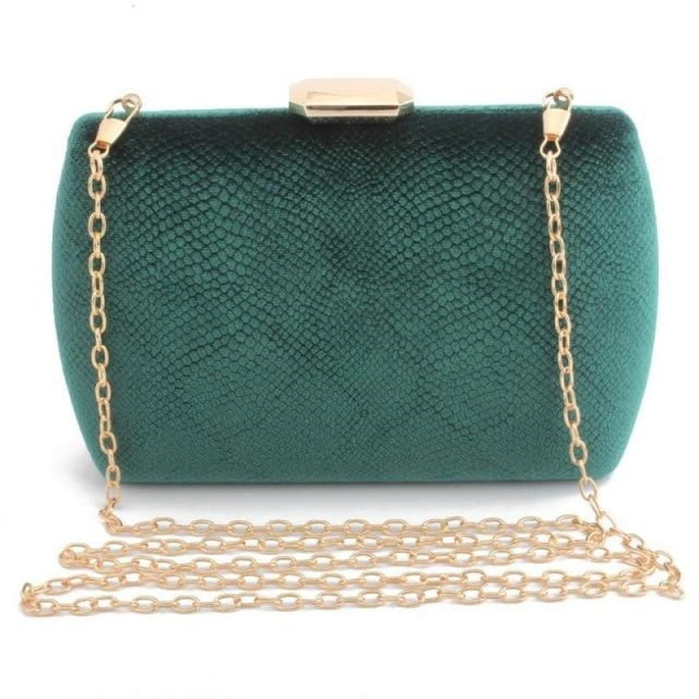 Fashion Suede Clutches Clain Wedding Handbags | Bridelily - green / Mini(Max Length<20cm) - wedding handbags